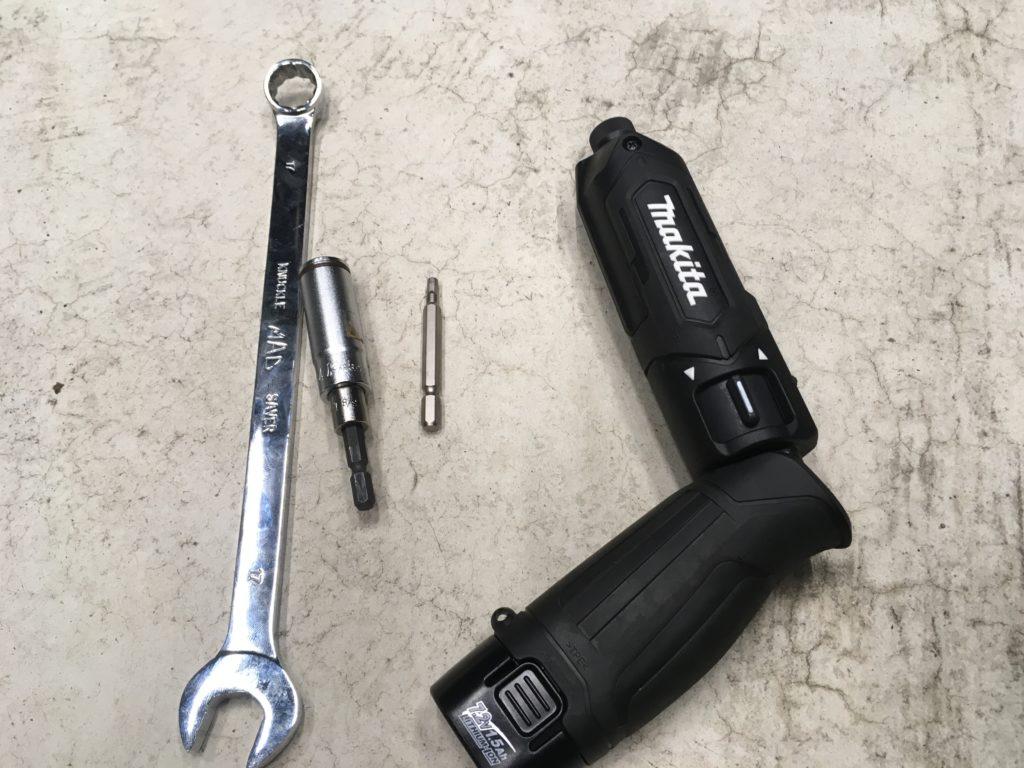 スマホホルダーをつけるときの工具