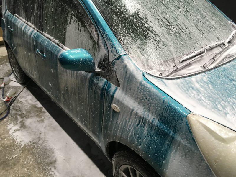 アワアワ洗車