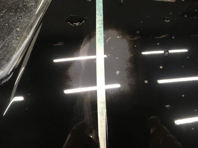 ガレージ内で乾かした場合